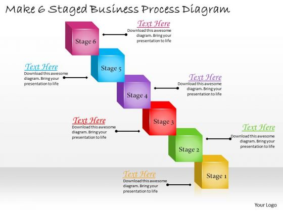 Develop Business Strategy Make 6 Staged Process Diagram Simple Strategic Plan Template