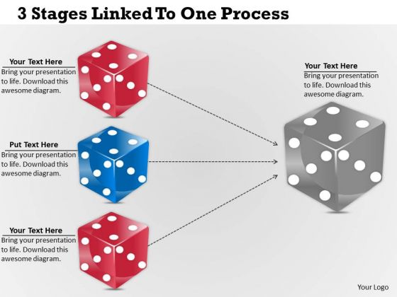 Developing Business Strategy 3 Stages Linked To One Process Strategic Plan Ppt Slide