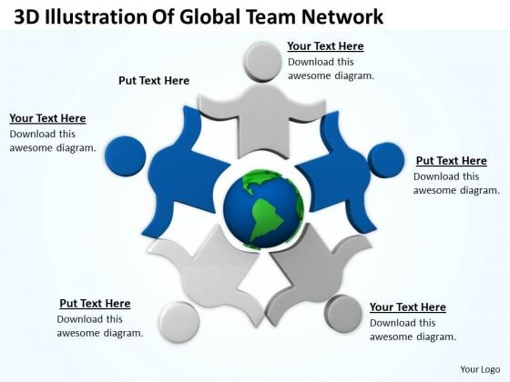 Developing Business Strategy 3d Illustration Of Global Team Network Success Images