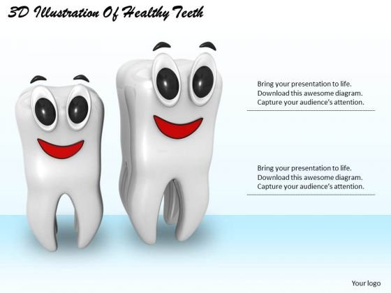 Developing Business Strategy 3d Illustration Of Healthy Teeth Success Images