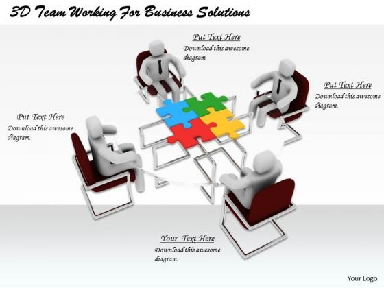 Developing Business Strategy 3d Team Working For Solutions Concept