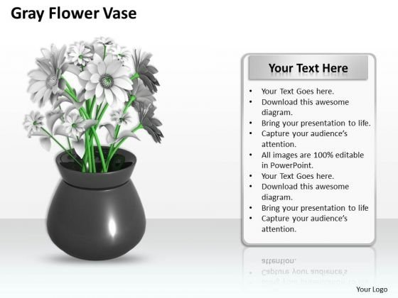 Developing Business Strategy Grey Flower Vase Icons Images