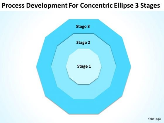 Development For Concentric Ellipse 3 Stages Business Plan Professional PowerPoint Templates