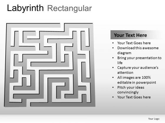 Development Labyrinth Rectangular PowerPoint Slides And Ppt Diagram Templates