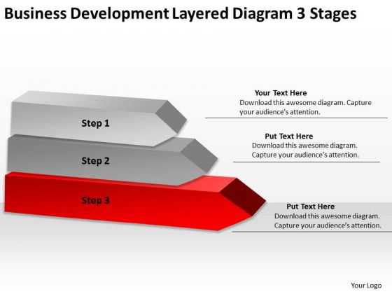 Development Layered Diagram 3 Stages Ppt Business Plan Professional PowerPoint Templates