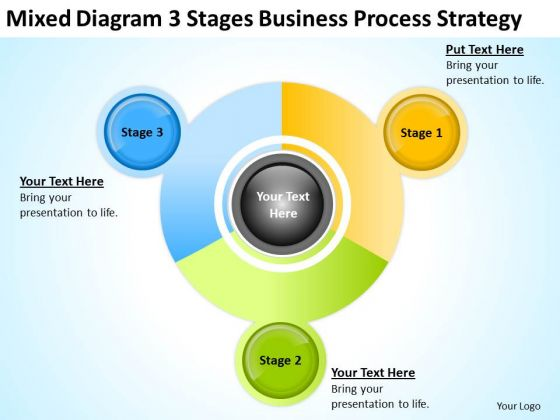 Diagram 3 Stages Business Strategy Planning Ppt How To Do PowerPoint Templates