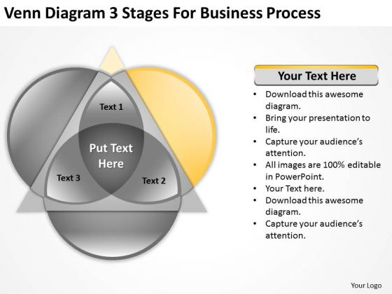 Diagram 3 Stages For Business Process Ppt Plans Templates PowerPoint