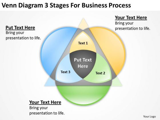 Diagram 3 Stages For Business Process Ppt Small Marketing Plan PowerPoint Templates