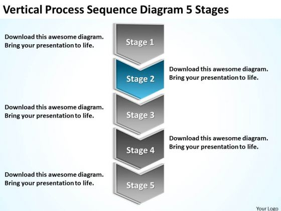 Diagram 5 Stages Ppt What Is An Executive In Business Plan PowerPoint Templates