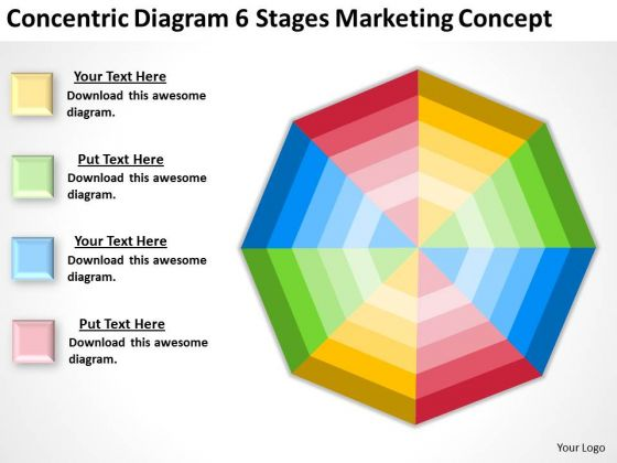 Diagram 6 Stages Marketing Concept Ppt Business Plan Template PowerPoint Slides