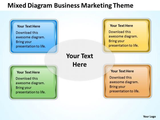 Diagram Business Marketing Theme Ppt Examples Of Plan Outline PowerPoint Templates