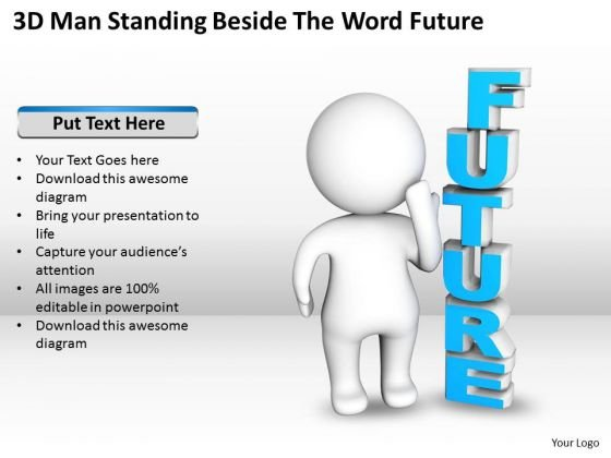 Diagram Business Process Beside The Word Future PowerPoint Templates Ppt Backgrounds For Slides