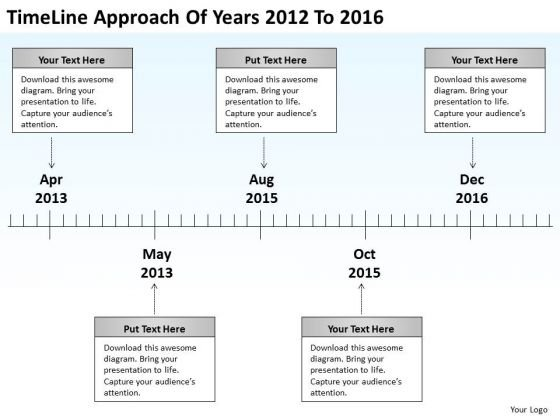 Diagram Business Process Of Years 2012 To 2016 PowerPoint Templates Ppt Backgrounds For Slides