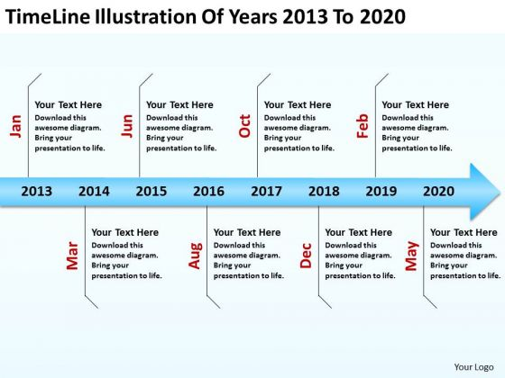 Diagram Business Process Of Years 2013 To 2020 PowerPoint Templates Ppt Backgrounds For Slides