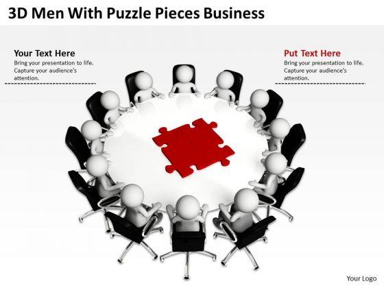 Diagram Business Process Puzzle Pieces PowerPoint Templates Download Slides