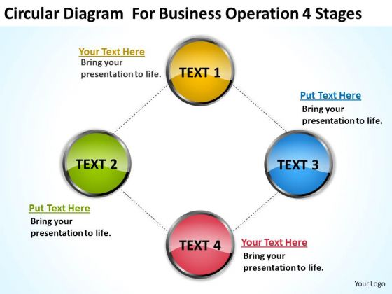 Diagram For Business Operation 4 Stages Ppt Plan PowerPoint Templates