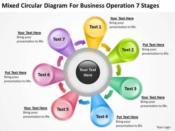 Diagram For Business Operation 7 Stages Ppt Sample Small Plan PowerPoint Templates