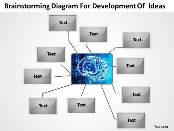 Diagram For Development Of Ideas Ppt Creating Business Plan PowerPoint Templates