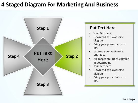 Diagram For Marketing And Business Ppt Software Plan Example PowerPoint Templates
