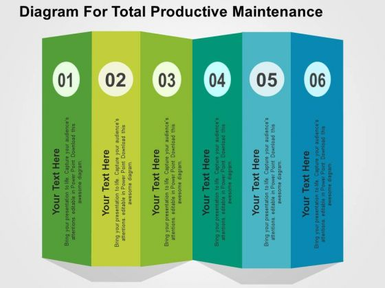 Diagram For Total Productive Maintenance PowerPoint Template