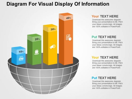 Diagram For Visual Display Of Information PowerPoint Templates