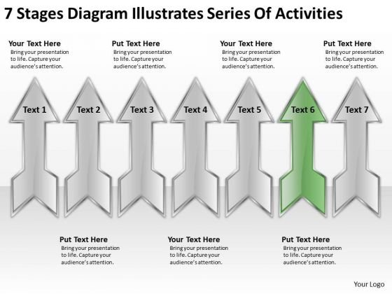 Diagram Illustrates Series Of Activities Designing Business Plan PowerPoint Templates