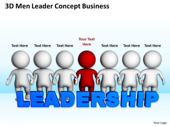 Diagram Of Business Cycle Men Leader Concept PowerPoint Templates Slides