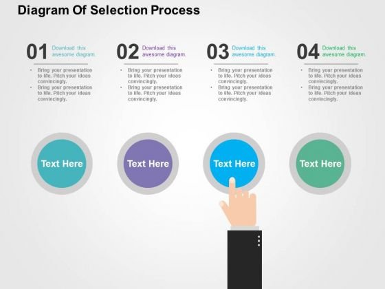 Diagram Of Selection Process PowerPoint Template