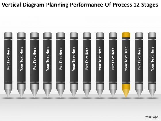 Diagram Planning Performance Of Process 12 Stages Ppt Business Plans PowerPoint Templates