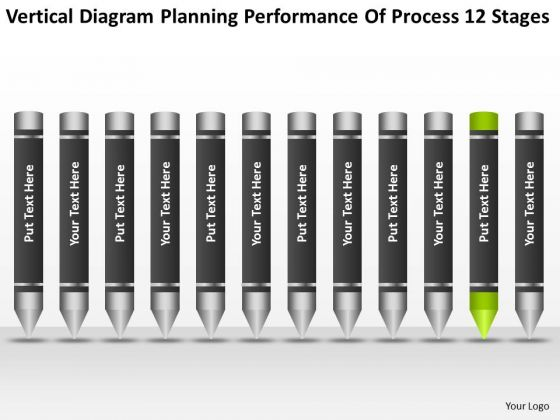 Diagram Planning Performance Of Process 12 Stages Ppt Business Strategy PowerPoint Templates