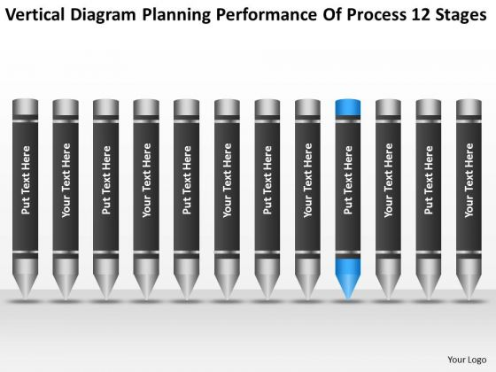 Diagram Planning Performance Of Process 12 Stages Ppt Business Writer PowerPoint Templates