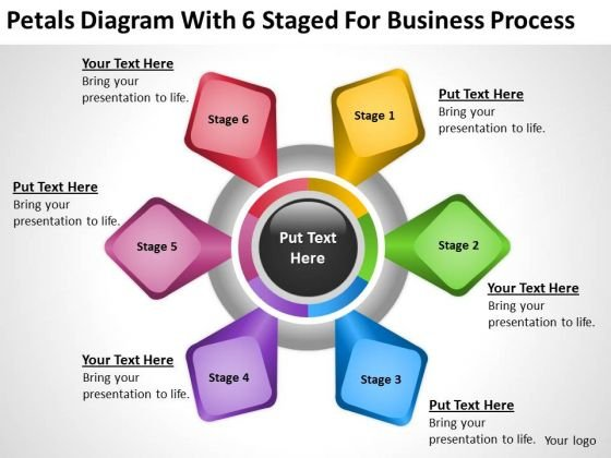 Diagram With 6 Staged For Business Process Ppt Executive Summary PowerPoint Slides
