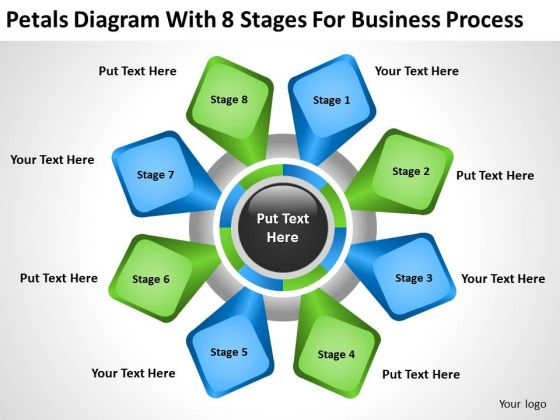 Diagram With 8 Stages For Business Process Ppt Plans Restaurants PowerPoint Slides