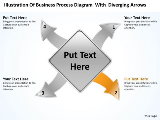 Diagram With Diverging Arrows Ppt Relative Circular Flow Process PowerPoint Slide