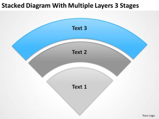 Diagram With Multiple Layers 3 Stgaes Ppt Consulting Business Plan Template PowerPoint Slides