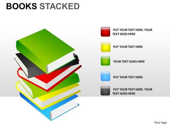 Dictionary Books Stacked PowerPoint Slides And Ppt Diagram Templates