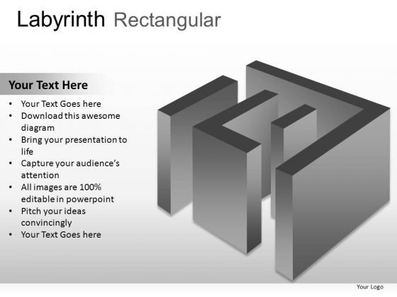 Digital Direction Labyrinth Rectangular PowerPoint Slides And Ppt Diagram Templates