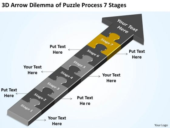 Dilemma Of Puzzle Process 7 Stages Ppt Restaurant Business Plans Examples PowerPoint Slides