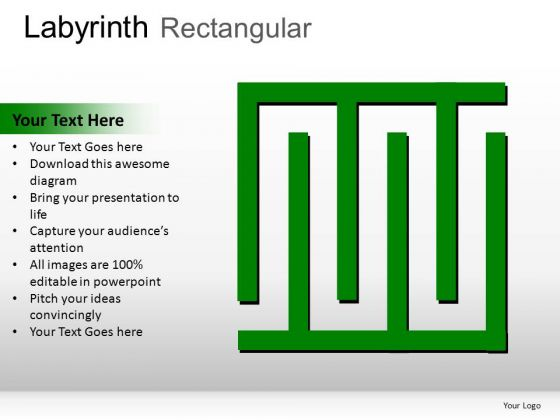 Dimensional Labyrinth Rectangular PowerPoint Slides And Ppt Diagram Templates
