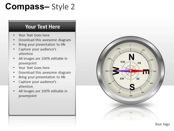Direction Compass 2 PowerPoint Slides And Ppt Diagram Templates
