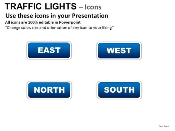 Directions Street Traffic Light PowerPoint Slides And Ppt Diagram Templates