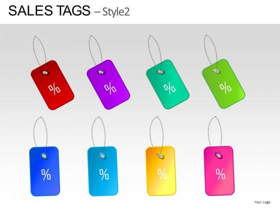 Discount Sales Tags PowerPoint Clipart Slides