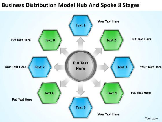 Distribution Model Hub And Spoke Stages Ppt Business Plan - Business plan template powerpoint