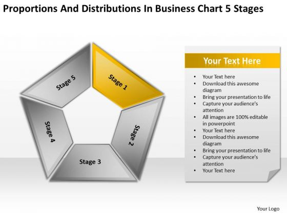 Distributions In Business Chart 5 Stages Plan Structure PowerPoint Slides