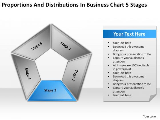 Distributions In Business Chart 5 Stages Ppt Plan PowerPoint Slides