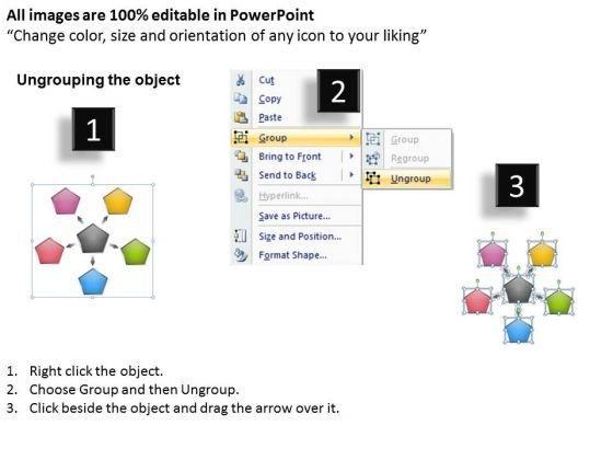 diverging_actions_flow_diagram_5_stages_cycle_process_powerpoint_templates_2