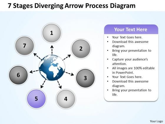 Diverging Arrow Process Diagram Ppt Relative Circular Flow PowerPoint Template