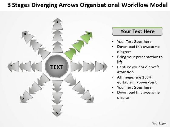 Diverging Arrows Organizational Workflow Model Ppt Cycle Process Diagram PowerPoint Slides