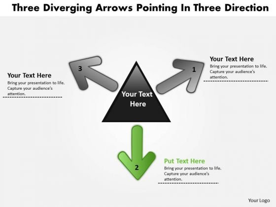 Diverging Arrows Pointing Direction5 Arrows Relative Circular Diagram PowerPoint Templates