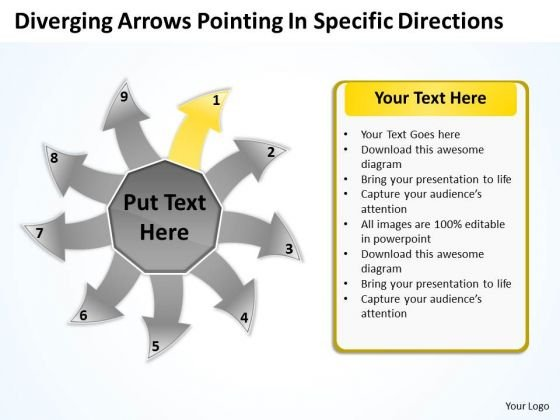 Diverging Arrows Pointing Specific Directions Ppt Chart Software PowerPoint Templates